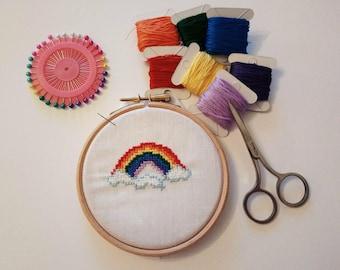 Cross stitch pattern - Rainbow cross stitch pattern - instant digital downloadable cross stitch pattern - pdf cross stitch pattern