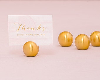 GOLD Classic Round Place Card Holders - 8 Pieces