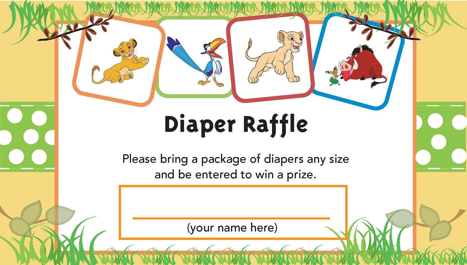 make your own raffle ticket