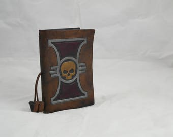 Inquisition, leather re-usable notebook A6