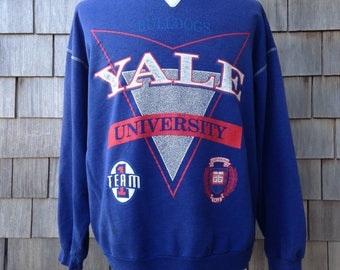 90s vintage distressed Yale University sweatshirt - XL - Yale Bulldogs