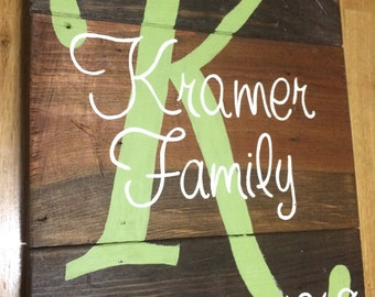 Personalized Family Sign - Family Established Sign - Custom Family Sign - Family wood sign - Family Name - Family rustic sign