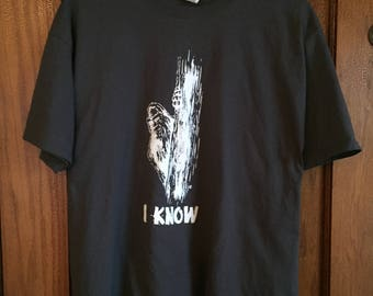Bigfoot tshirt t shirt yeti I know Iknow Iknowsquatch peeper