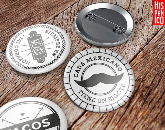 6 Badges 'Mexicano'