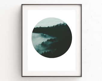 Forest Print Art, Scandinavian Print, Forest Prints, Printable Forest Art, Nursery Forest Print, Nature Print Decor, Wall Art, Art Print