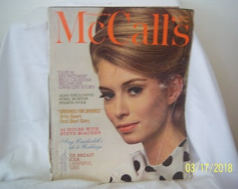 April 1964 McCall's Woman's Magazine Beauty Household Atrie Shaw Billy Graham Steve McQueen