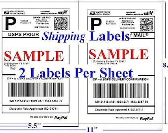 "200pcs Half Sheet Self Adhesive Shipping Labels for Laser & Inkjet Printers 100 Sheets 8.5"" x 5.5"" (200 Labels) USA Seller Fast Shipping"