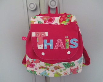 Customized maternity backpack RESERVE THAIS, theme owls and owls. school.