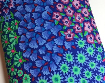 Kaffe Fassett Fabric Persian Garden PWGP 160 Blue Collective by Westminster Designer - 100% Quality Cotton - BY the Yard or Yardage