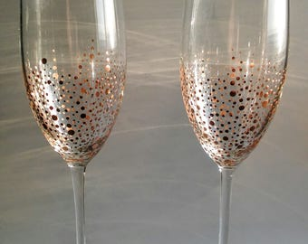 ONE Rose Gold Champagne Glass