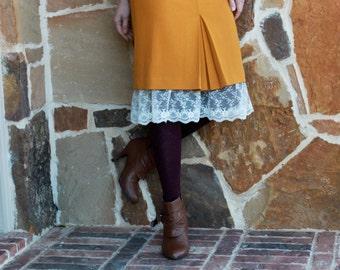 Slip Extender: Long Cream Lace