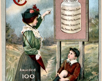Calvert's Carbolic Ointment Vintage Advertising Art Print