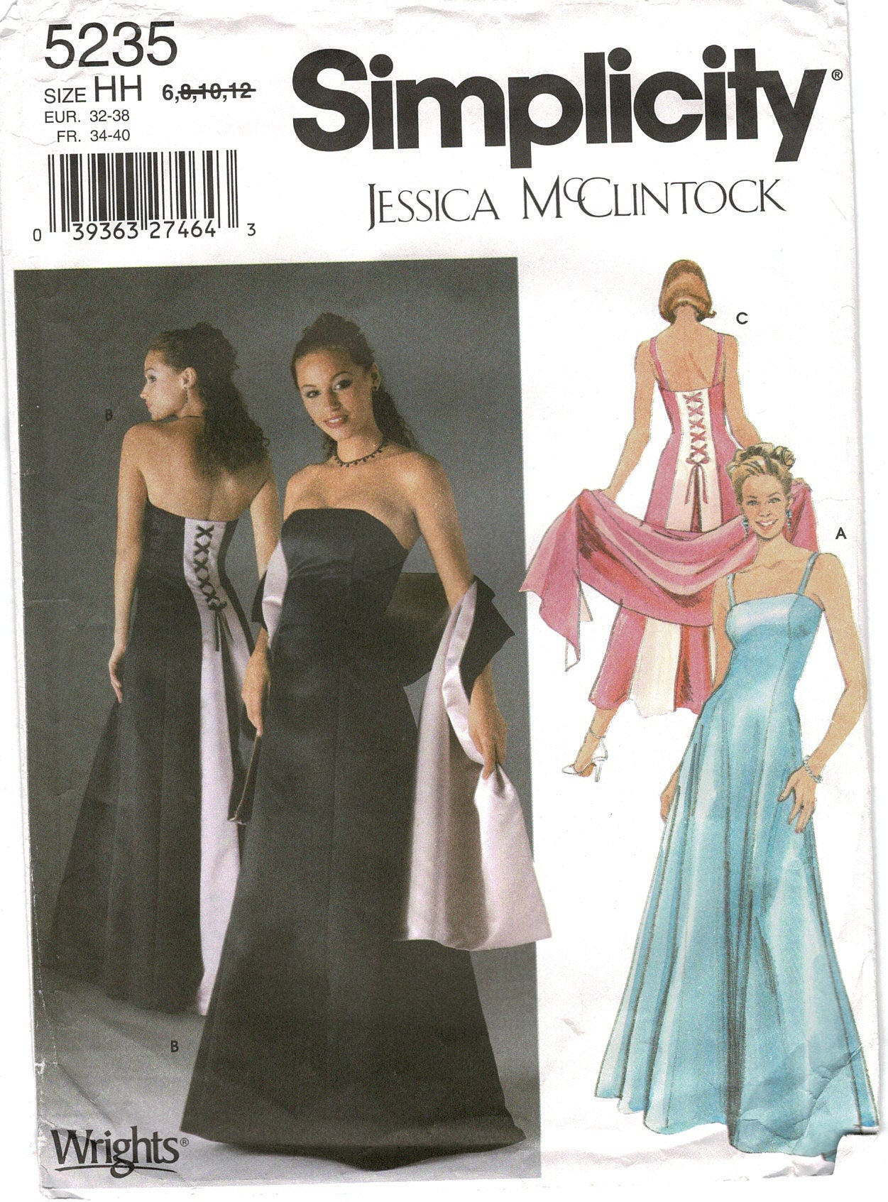 Formal Evening Prom Gown Simplicity 5235 Miss Petite Size 6