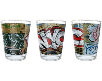 Andre Charles NYC Graffiti Wall Shot Glass