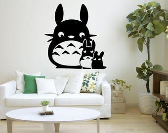 Totoro Wall Decal, Totoro Baby, Totoro Wall Art, My Neighbor Totoro, Totoro