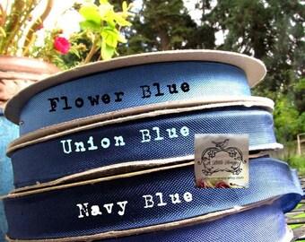 Rayon Seam Binding Ribbon Union Blue