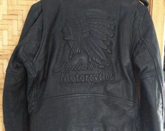 Indian leather motorcycle jacket