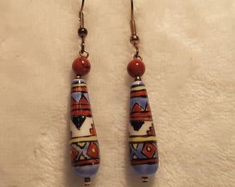 Native American Dangle Bead Earrings