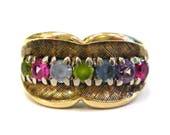 10K Multi Stone Ring - X3...