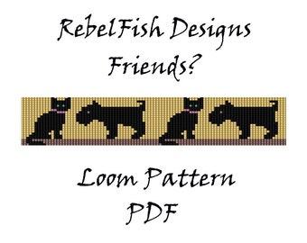 Friends?. Loom Patter. Bead Weaving. Bracelet. Book Mark. PDF