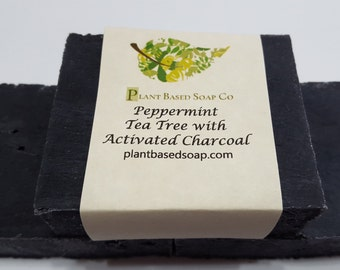 Peppermint Tea Tree with Activated Charcoal, Acne Soap, Organic soap, Handmade Soap
