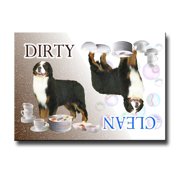 Bernese Mountain Dog Clean Dirty Dishwasher Magnet