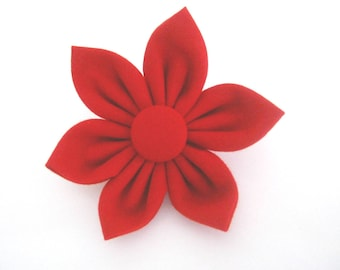 dog collar flower ,red fabric flower ,flower for dog collar,removable dog collar flower