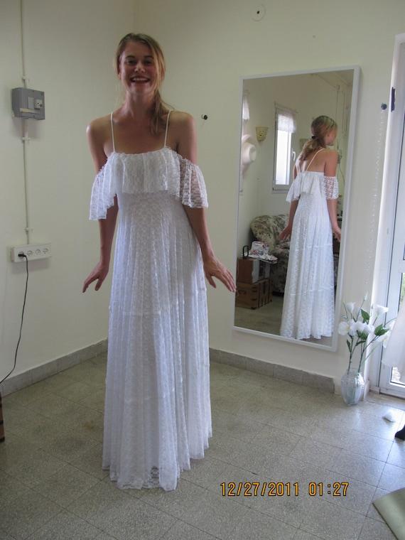 Wedding Dress Boho Wedding Dress Bohemian Wedding Dress 70s