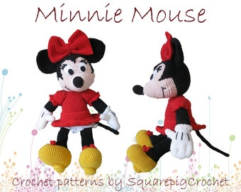 Minnie mouse crochet pattern, about 14 inches tall