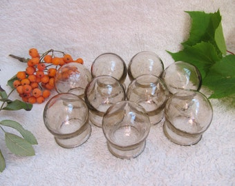cupping glass massage tools jars vintage USSR soviet medical glass body massage cups medical cupping medical jars medical instruments spa