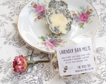 All Natural Lavender Bath Melts 1 oz - Bath and Beauty Product