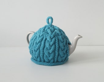 Knitted Tea Cosy Sea blue/green - BAILEY