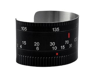 Camera Lens Aluminum Geekery Cuff