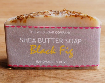 Handmade Black Fig Shea Butter Soap