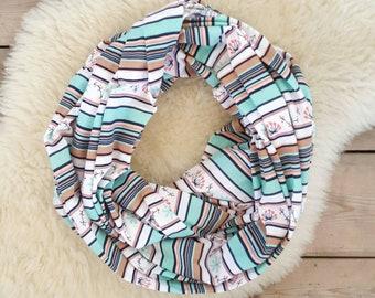 Nursing Scarf, Spring Prairie Stripe Breastfeeding Scarf, Nursing Cover, Breastfeeding Cover, Mama Scarf, Pumping Scarf