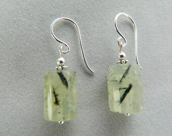 Prehnite Earrings.