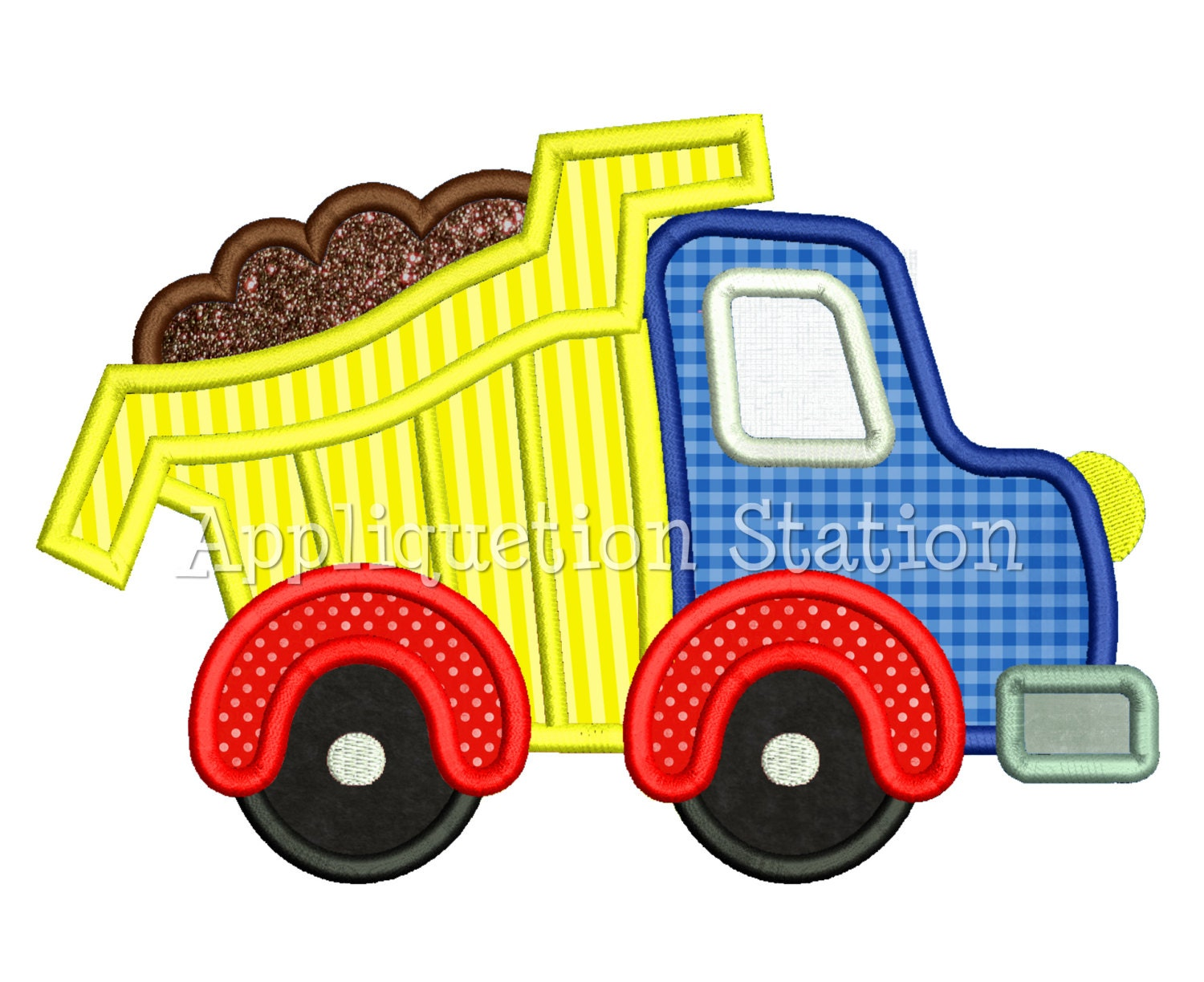 Free Dump Truck Embroidery Design