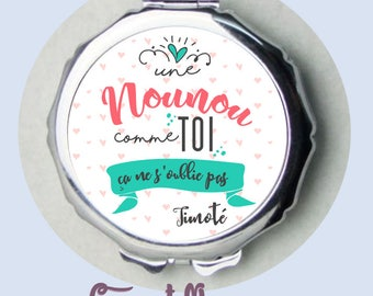 "Nanny gift mirror ""a nanny as you don't forget""-personalized gift for nanny"