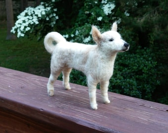 Shepard Mix needle felted handmade wool dog