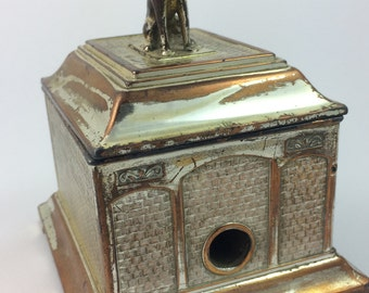 Vintage silver plate cigarette machine see pictures for condition this is a used item