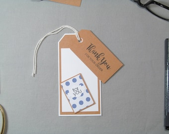 Business Thank You Tags - Small Business Tags - Card Maker Tags - Card Tags - Handmade Seller Tags - Thank You Tags – Handmade Business Tags