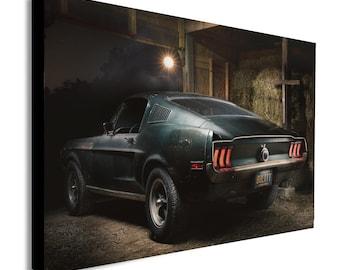 STEVE McQUEEN Original 1968 Mustang Bullitt Canvas Wall Art  - Various sizes