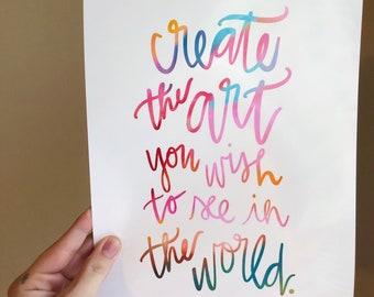 Create the Art gloss print