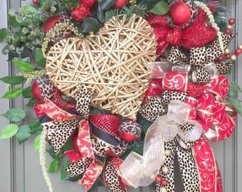 Valentine Wreath, Grapevine Valentine Wreath