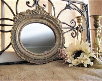Romantic Chic Cherub Mirror Charming CHERUB Wall Mirror ORNATE Gold MIRROR with Cherubs for Wedding or Home Decor