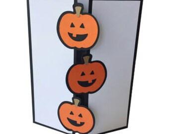 Pumpkin Trifold Card , Halloween , Blank Inside , Trick or Treat , Kids , Adults , Teens , Boys , Girls , Fall , Autumn