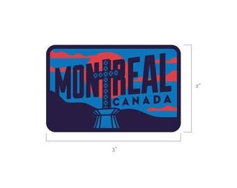 Montreal, Quebec Travel Sticker