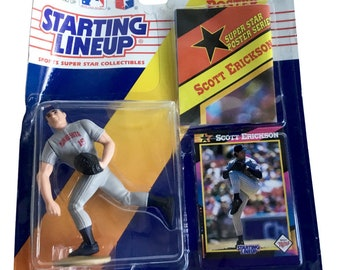 MLB Starting Lineup SLU Scott Erickson Action Figure Minnesota Twins 1992 Kenner