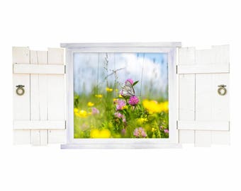 045 Wall decal butterfly in window