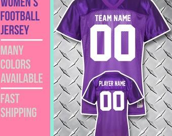 Custom Women's Football Fan Jersey //// Junior Fit //// Sizes S to 2XL